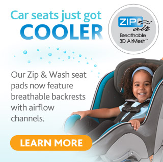 The Chicco Zip Air - now available on our full line of car seats