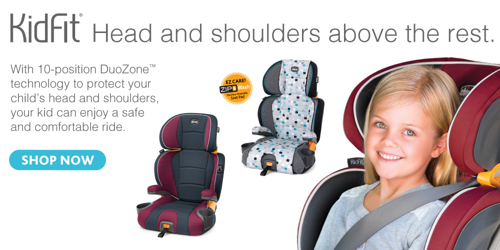 The Chicco KidFit Booster Seat - Made by the makers of the #1 rated  KeyFit and other baby gear products