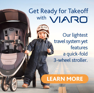 introducing our lightest travel system yet - the Chicco Viaro Travel Sytem - car seat & stroller included