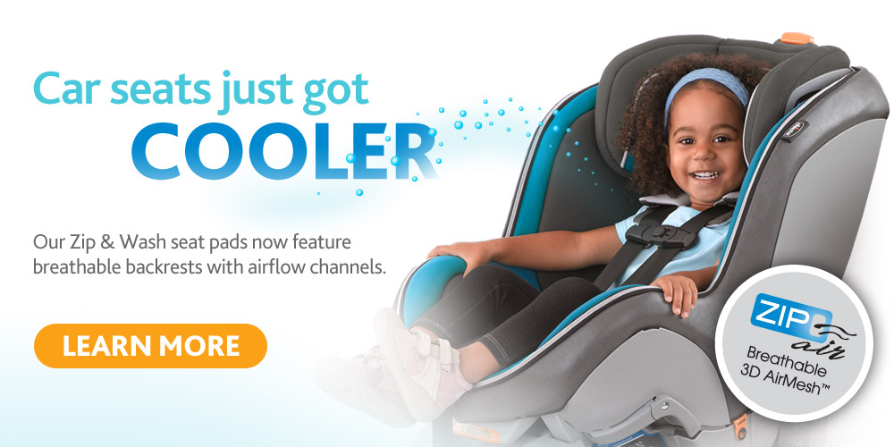 The Chicco Zip Air - now available on our full ine of car seats
