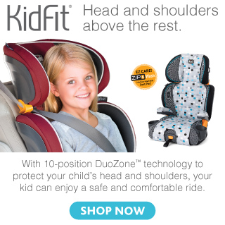 The Chicco KidFit booster car seat - made for growing kids and perfect for toddlers - car seats by Chicco